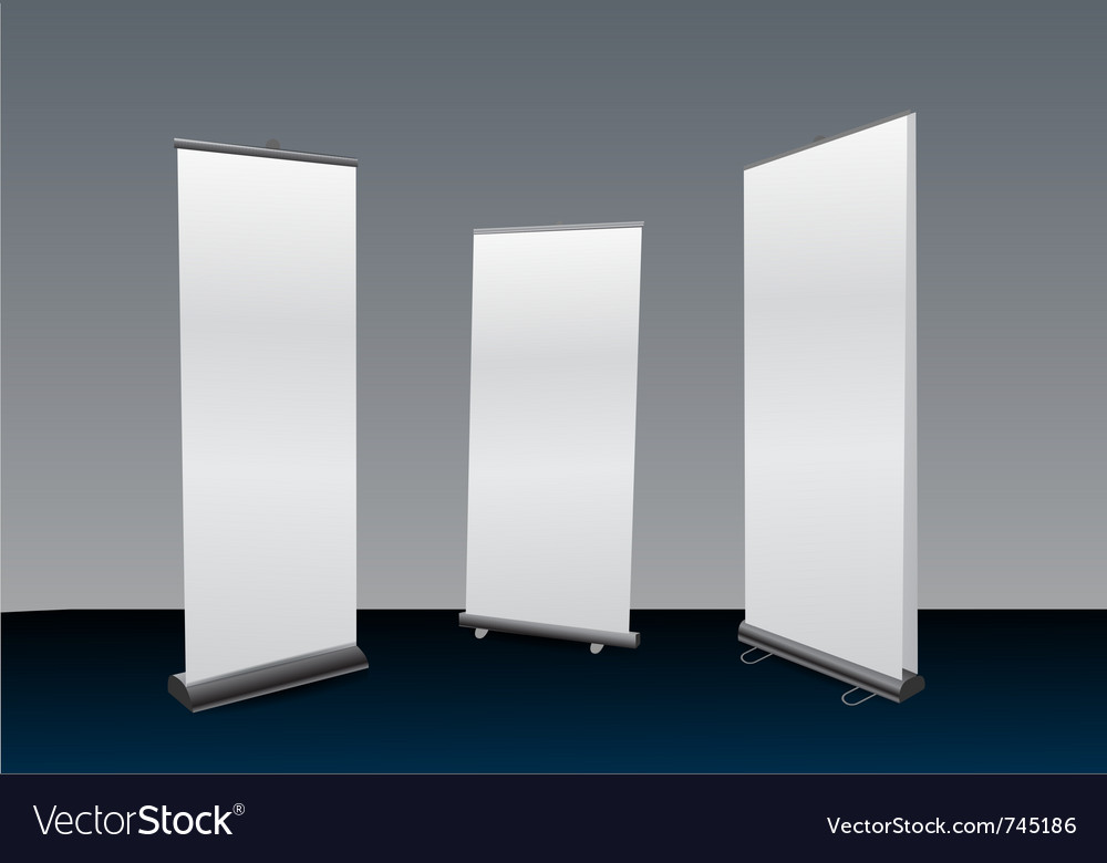 Blank roll ups set vector | Price: 1 Credit (USD $1)