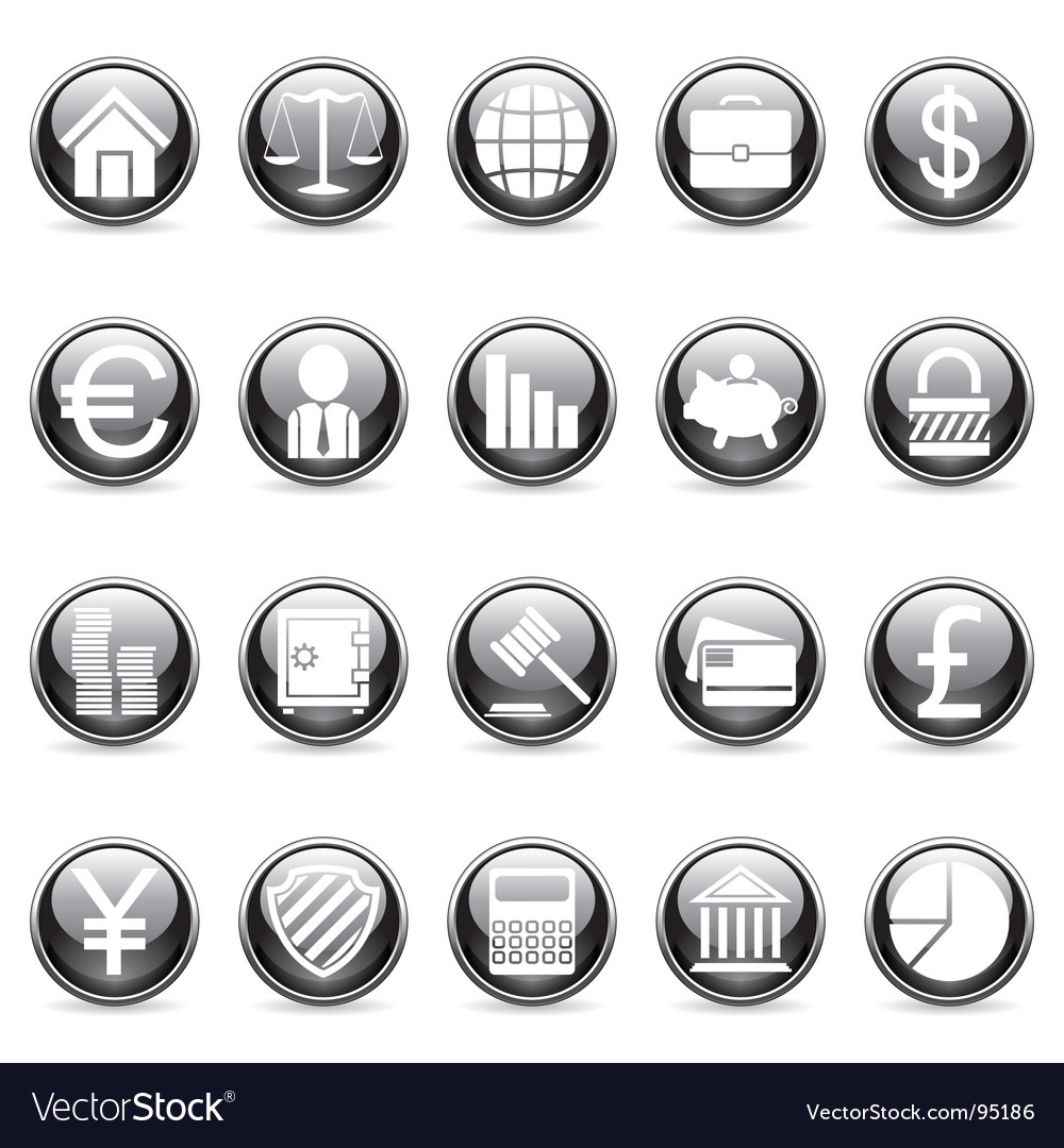 Business and finance buttons vector | Price: 1 Credit (USD $1)