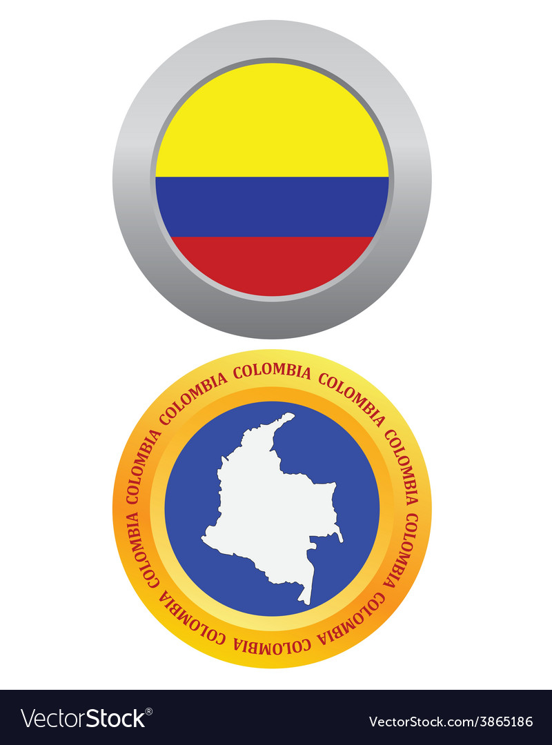 Button as a symbol colombia vector | Price: 1 Credit (USD $1)