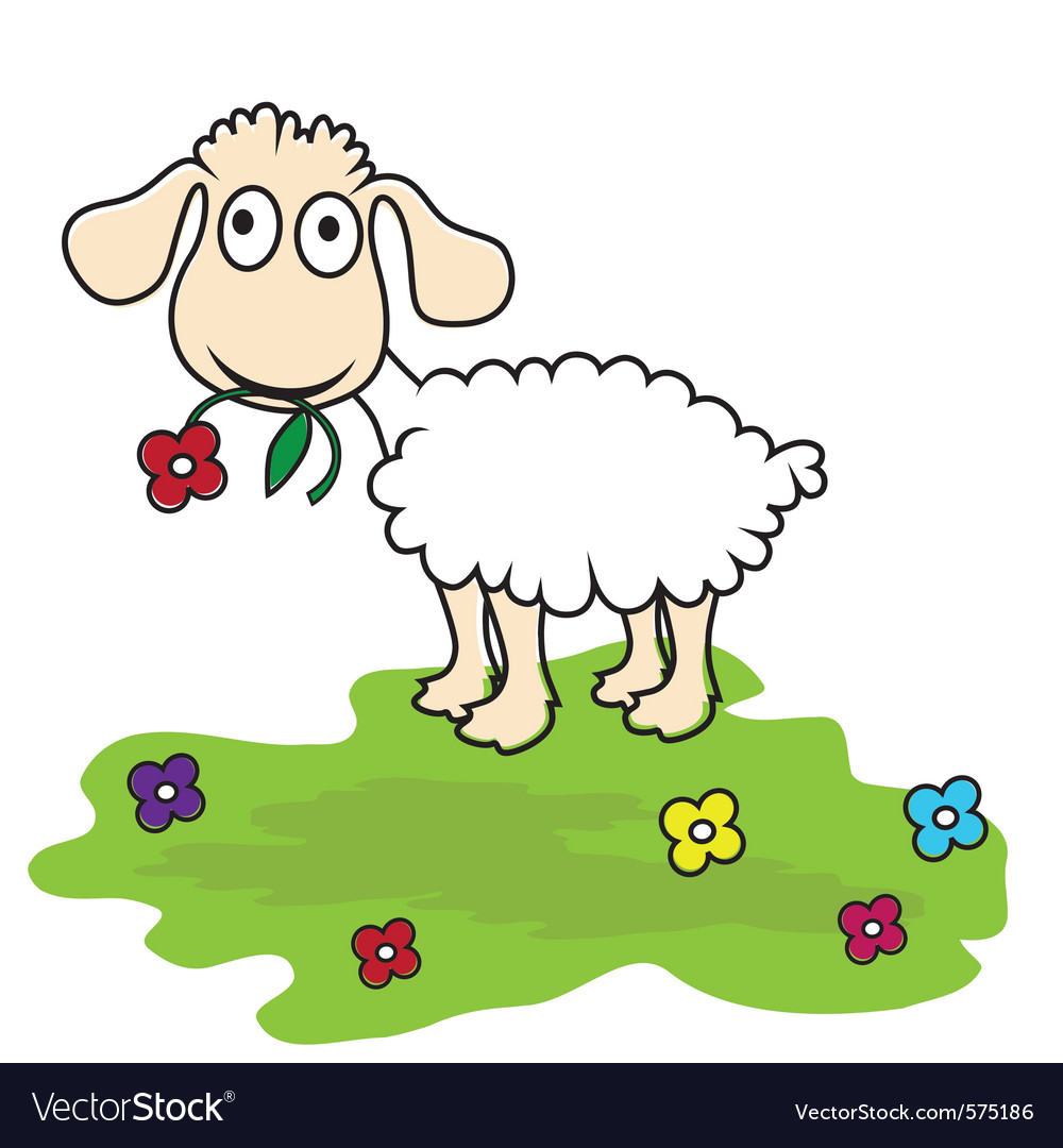 Cartoon lamb vector | Price: 1 Credit (USD $1)