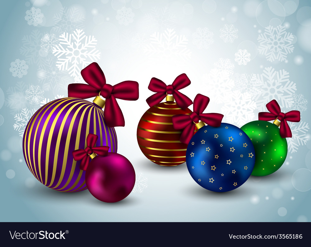 Christmas balls background holiday winter hristmas vector   Price: 1 Credit (USD $1)
