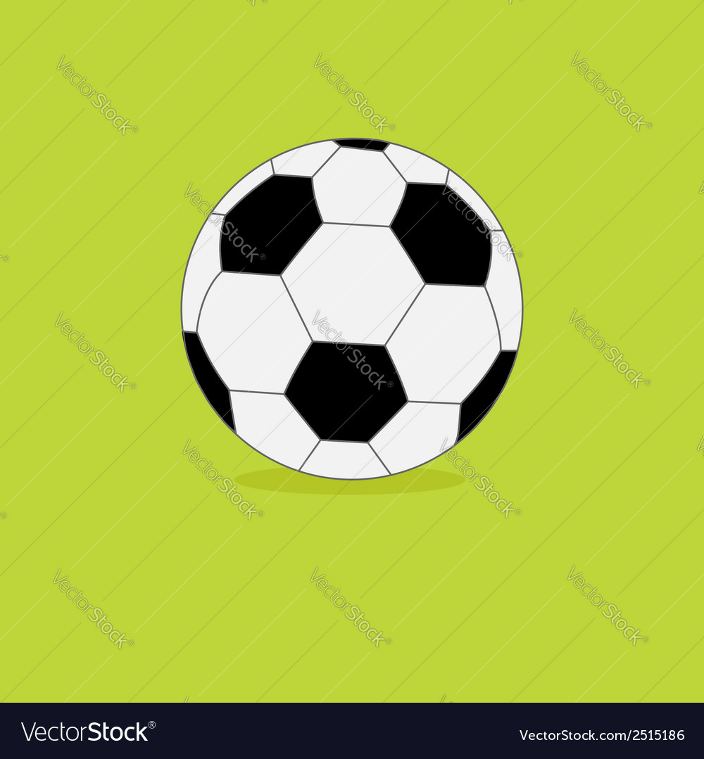 Football soccer ball icon on green grass back vector | Price: 1 Credit (USD $1)