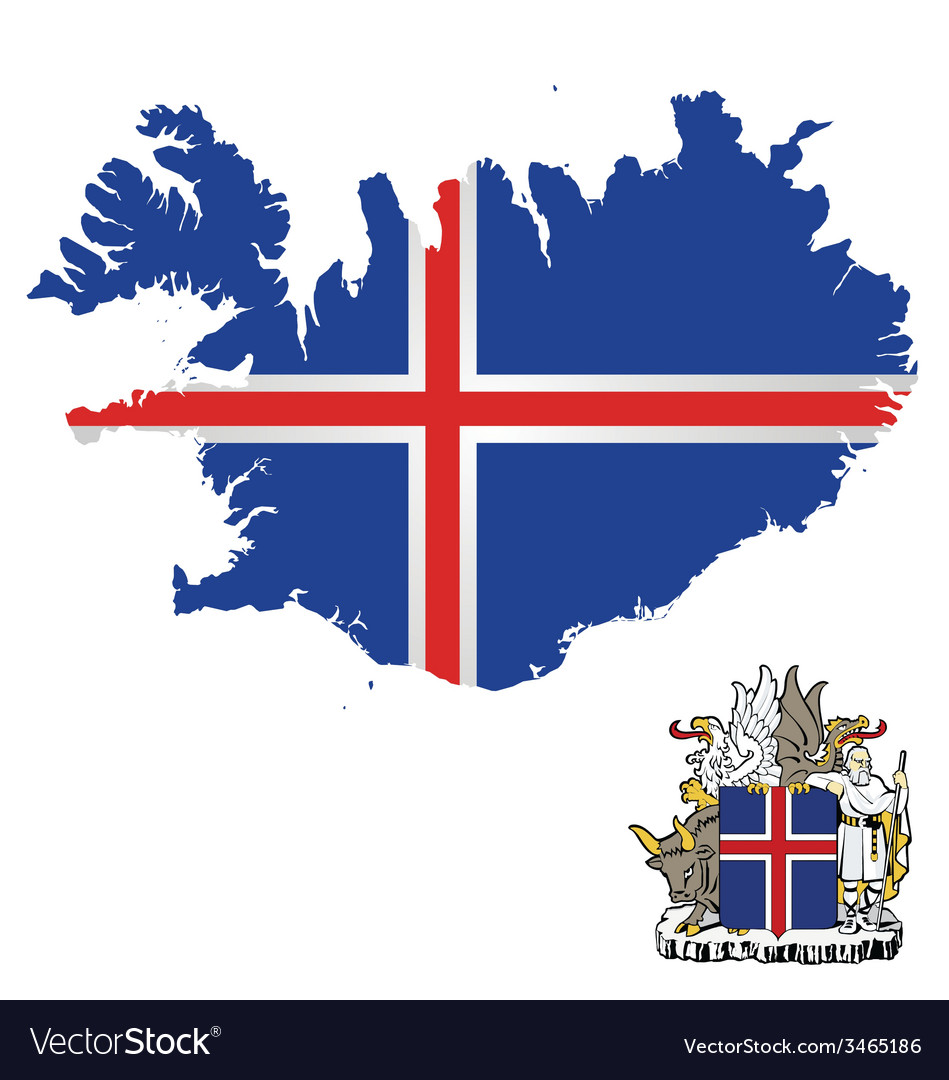 Iceland flag vector | Price: 1 Credit (USD $1)