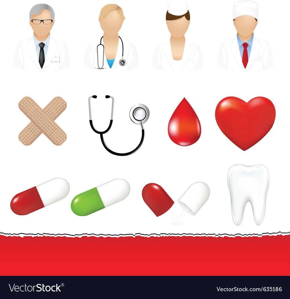 Medical icons set vector | Price: 1 Credit (USD $1)