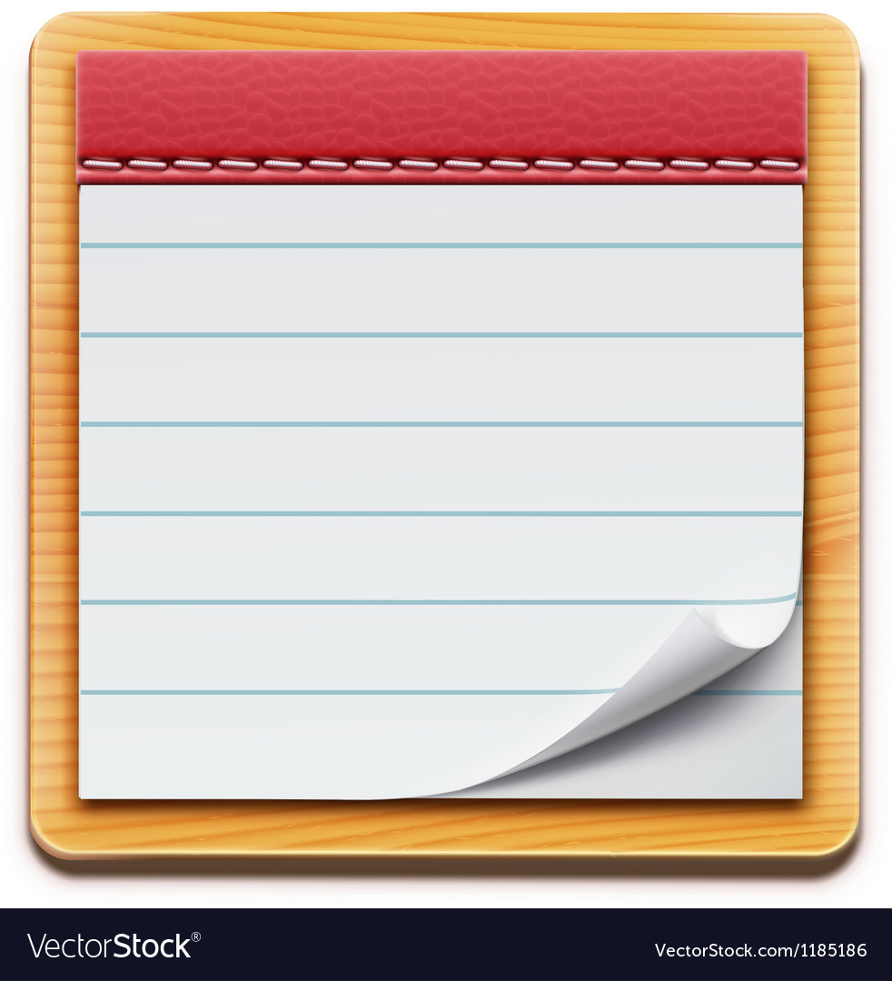 Notepad vector | Price: 3 Credit (USD $3)