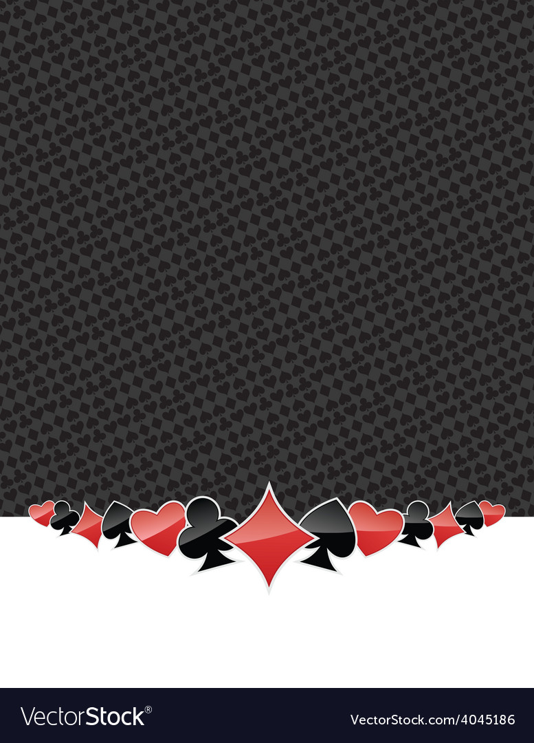 Poker suits gambling background vector | Price: 1 Credit (USD $1)
