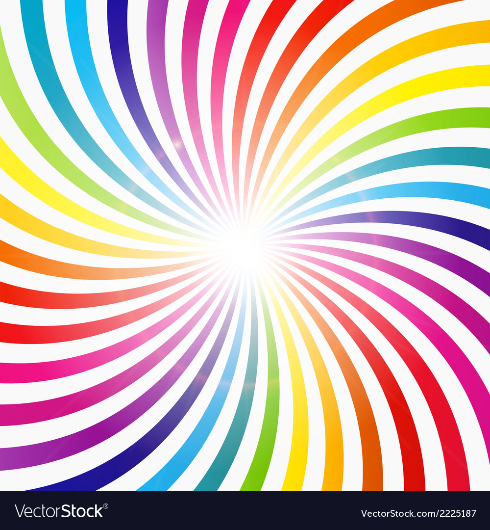 Abstract rainbow hypnotic background vector | Price: 1 Credit (USD $1)