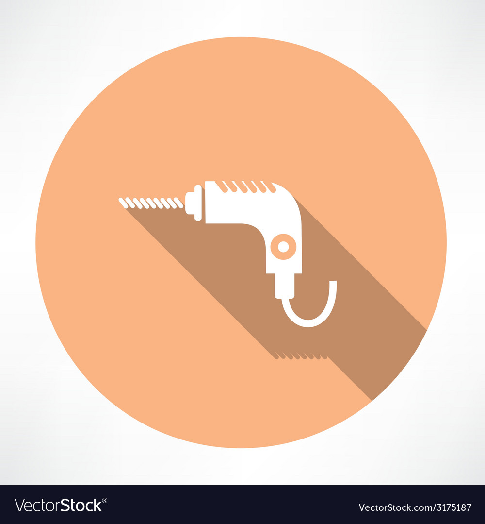 Drill icon vector | Price: 1 Credit (USD $1)