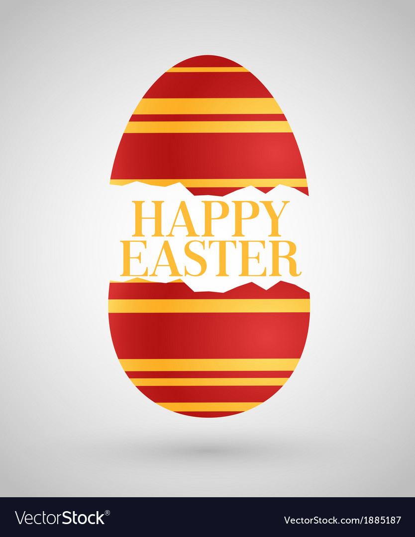 Happy easter background with egg vector   Price: 1 Credit (USD $1)