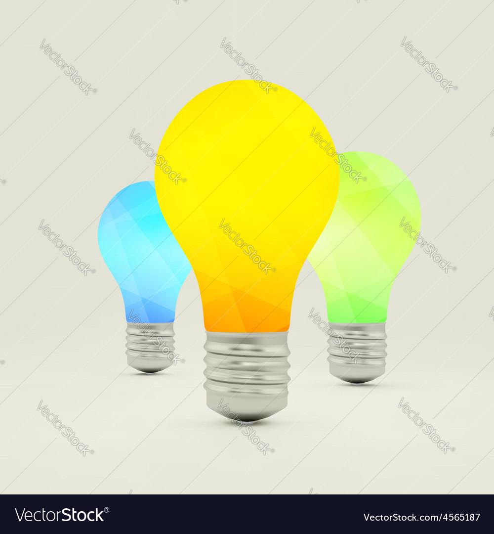 Lightbulb idea symbol 3d vector | Price: 1 Credit (USD $1)