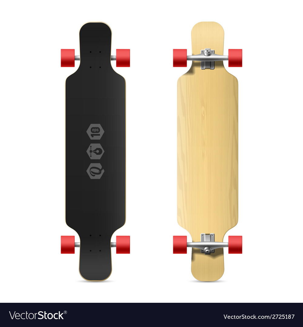 Longboard skateboard vector | Price: 1 Credit (USD $1)