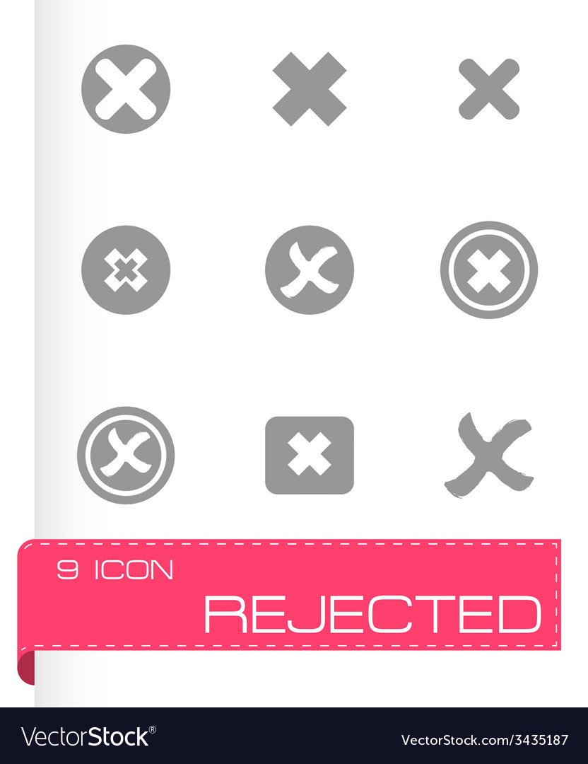 Rejected icon set vector | Price: 1 Credit (USD $1)