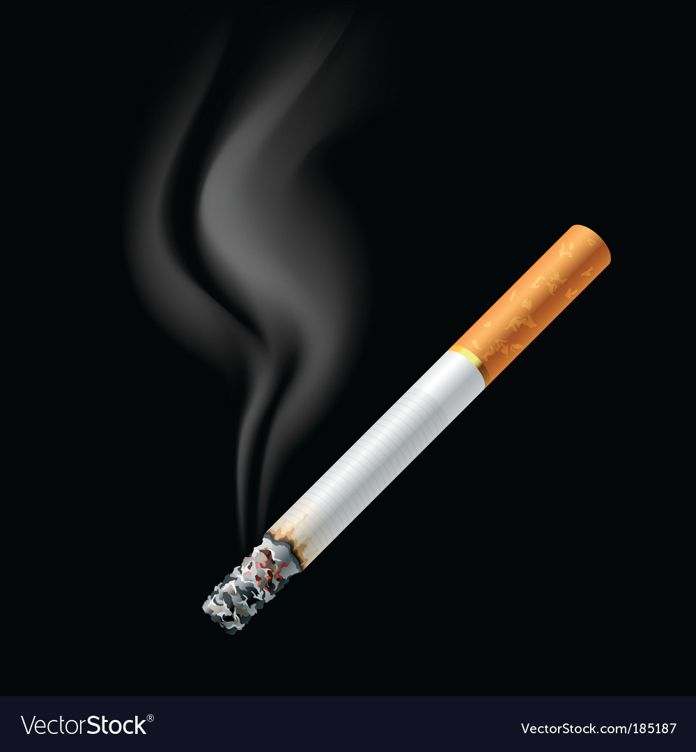 Smoldering cigarette vector | Price: 1 Credit (USD $1)