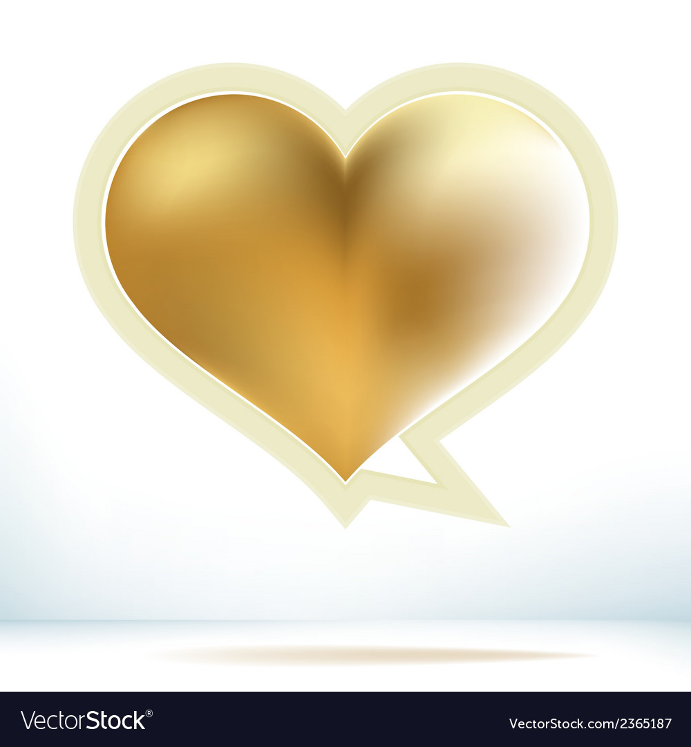 Valentines day gold speech bubble  eps8 vector | Price: 1 Credit (USD $1)