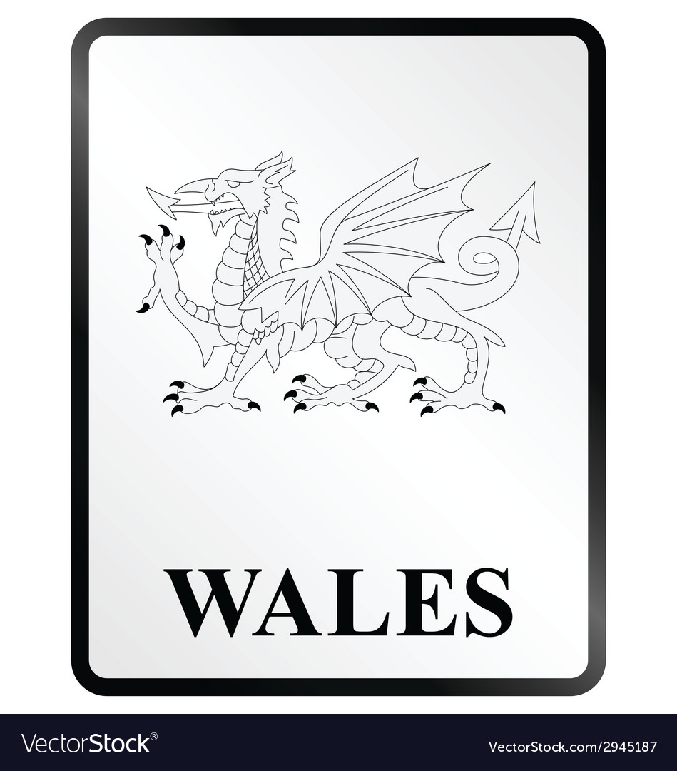 Wales sign vector | Price: 1 Credit (USD $1)
