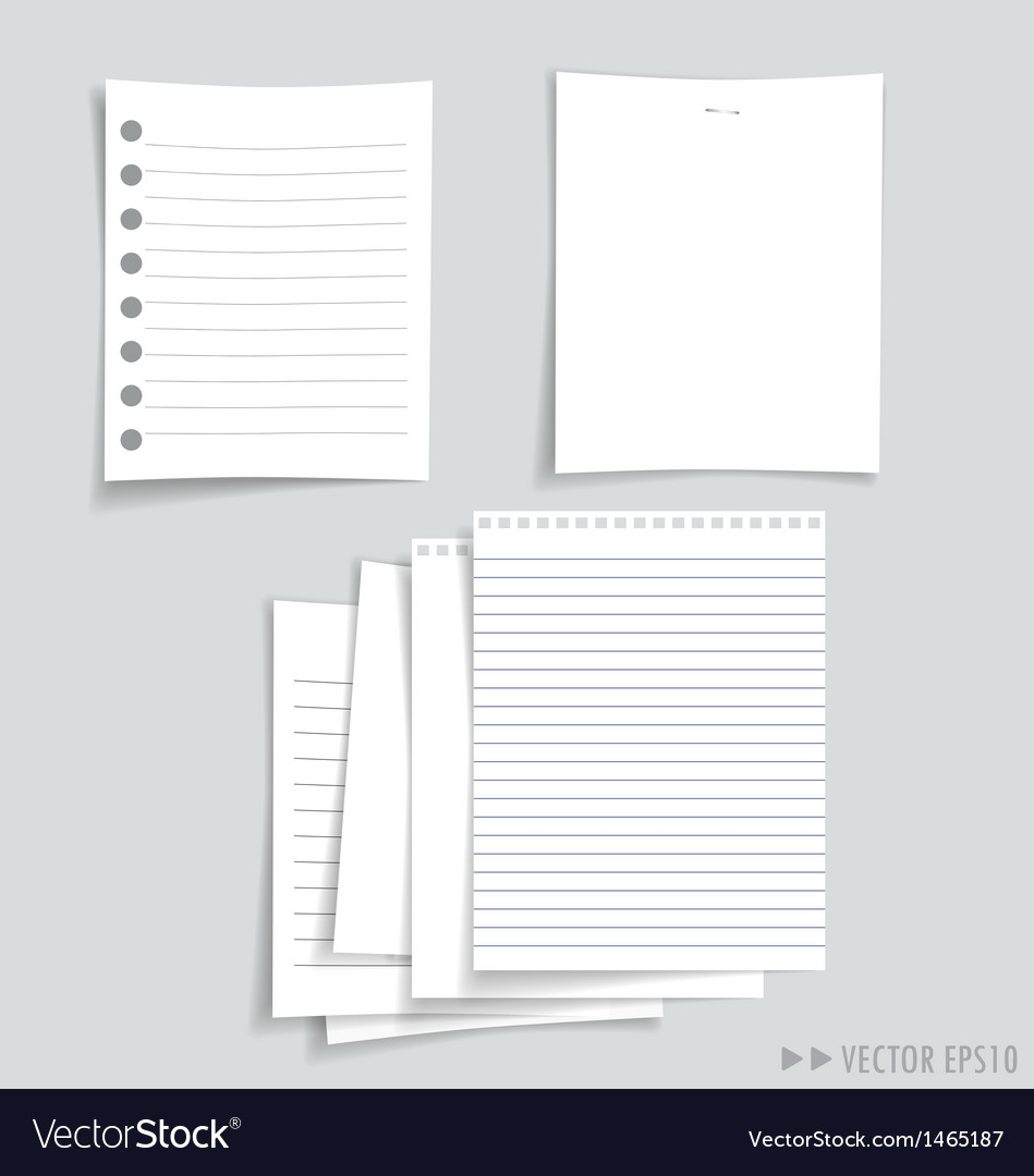 White papers collection vector   Price: 1 Credit (USD $1)
