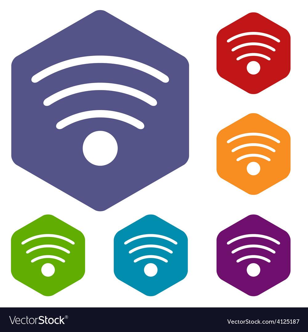 Wi-fi rhombus icons vector | Price: 1 Credit (USD $1)