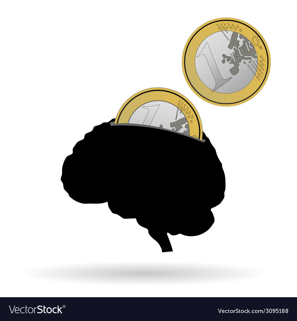 Brain as a piggy bank vector | Price: 1 Credit (USD $1)