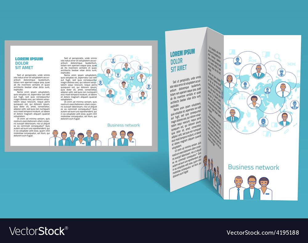 Brochure booklet z-fold layout editable design vector | Price: 1 Credit (USD $1)