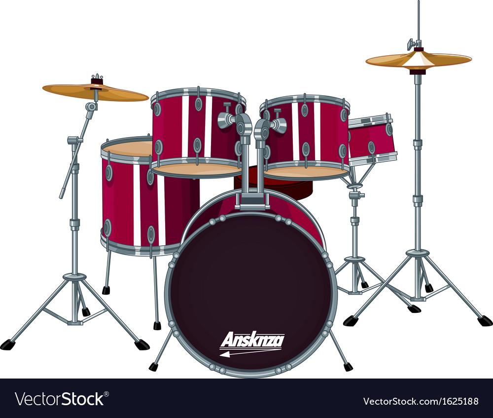 Drum kit vector | Price: 1 Credit (USD $1)