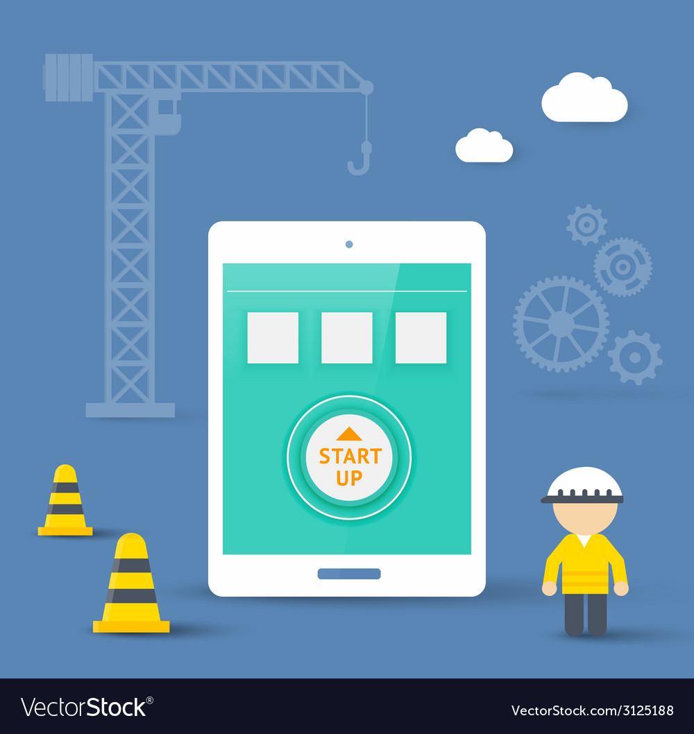 Flat style concept of mobile app development vector | Price: 1 Credit (USD $1)
