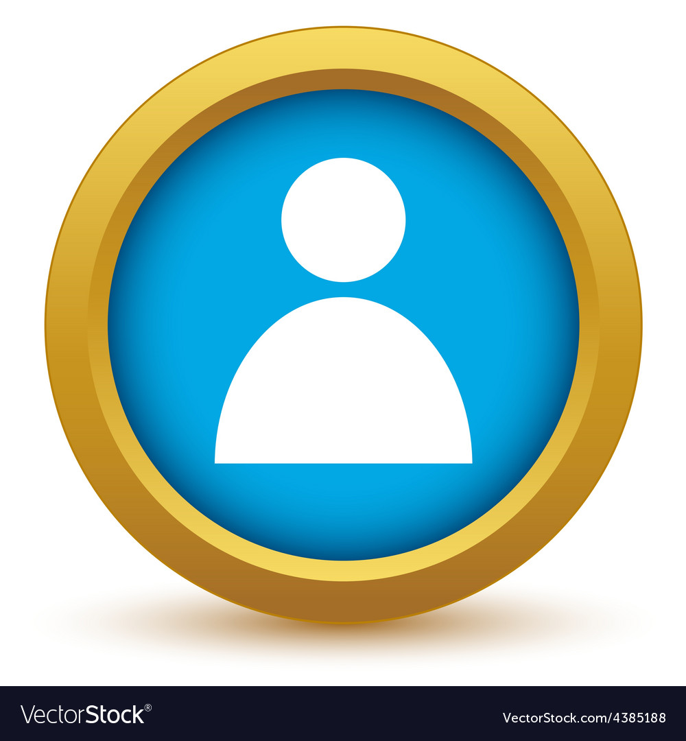 Gold user profile icon vector | Price: 1 Credit (USD $1)