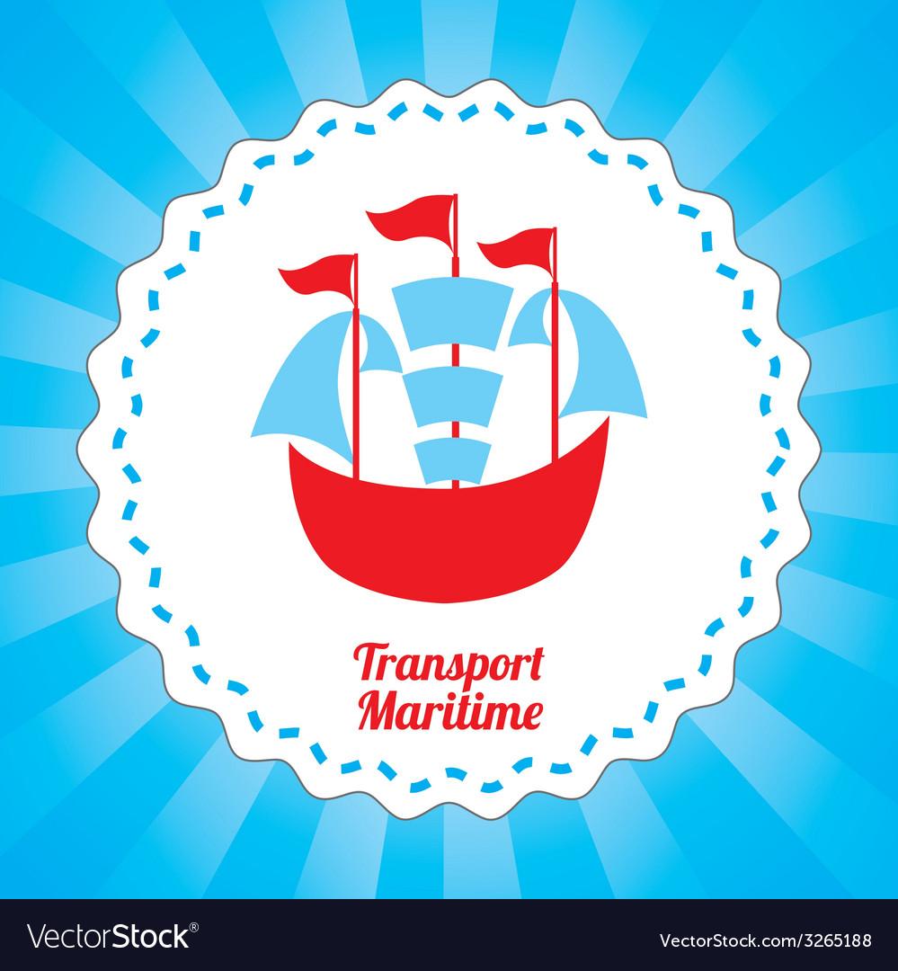 Maritime transport design vector | Price: 1 Credit (USD $1)