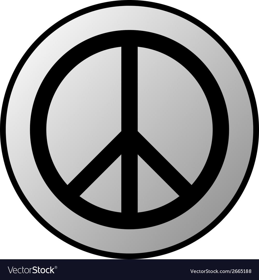Peace button vector   Price: 1 Credit (USD $1)