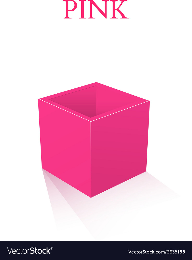 Pink box isolated on white background vector | Price: 1 Credit (USD $1)