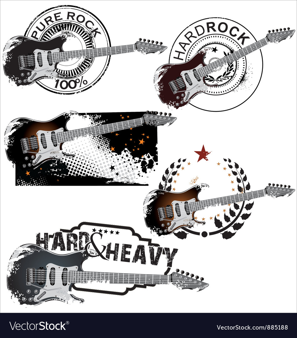 Pure rock stamp set vector | Price: 1 Credit (USD $1)