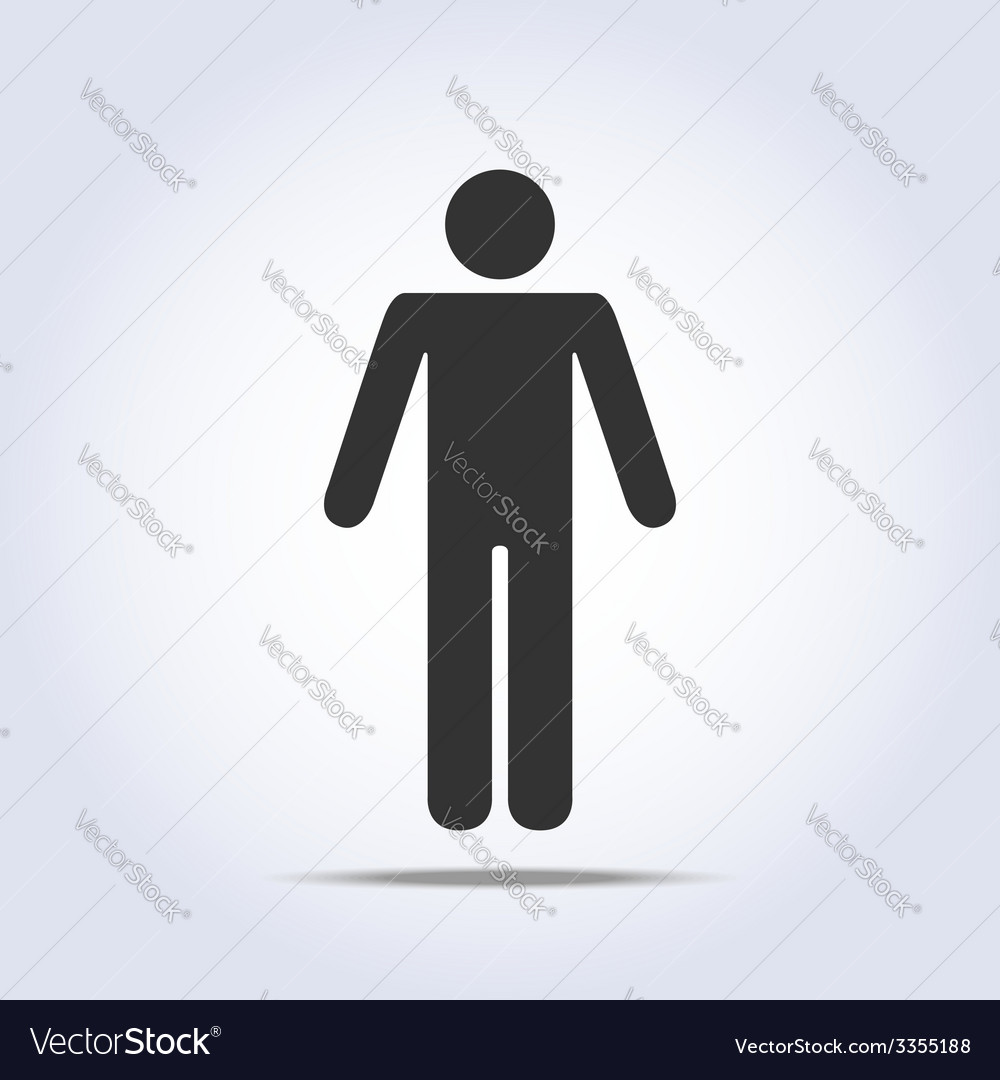 Standing human icon vector | Price: 1 Credit (USD $1)