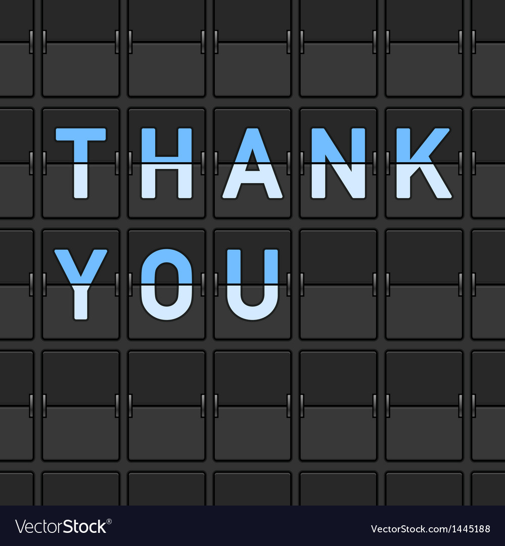 Thank you flip board vector | Price: 1 Credit (USD $1)