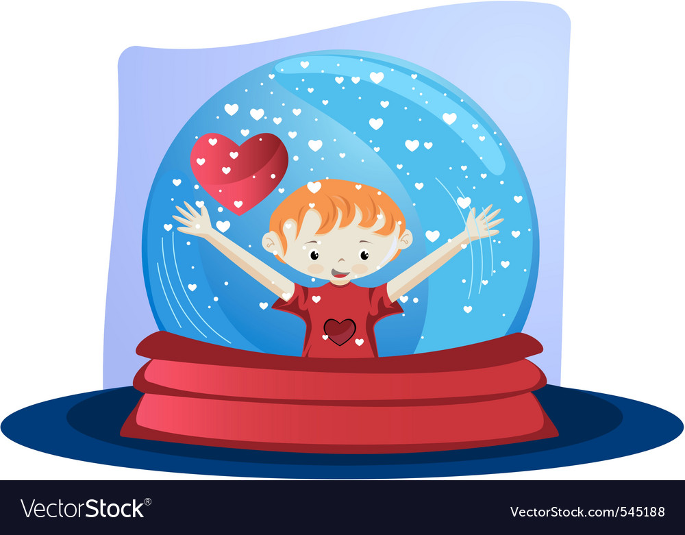 Valentines day  glass globe vector | Price: 1 Credit (USD $1)