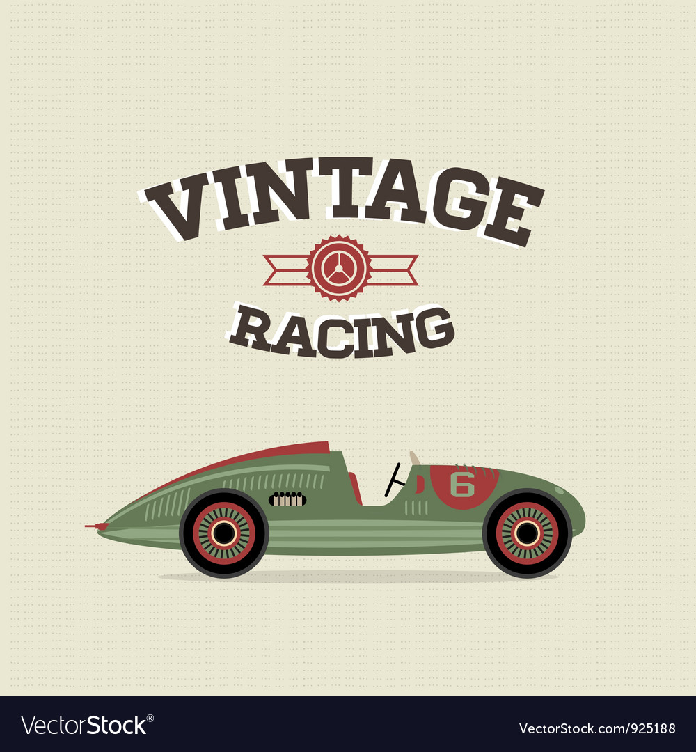 Vintage sport racing cars vector | Price: 3 Credit (USD $3)