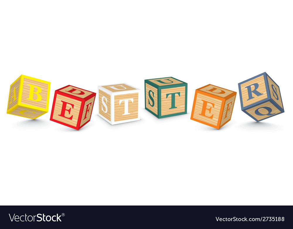 Word better written with alphabet blocks vector | Price: 1 Credit (USD $1)