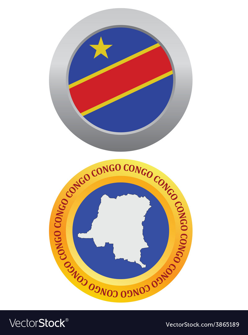 Button as a symbol congo vector | Price: 1 Credit (USD $1)