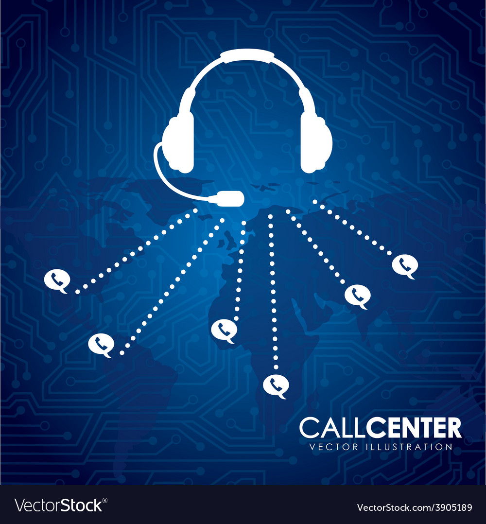 Call center vector | Price: 3 Credit (USD $3)