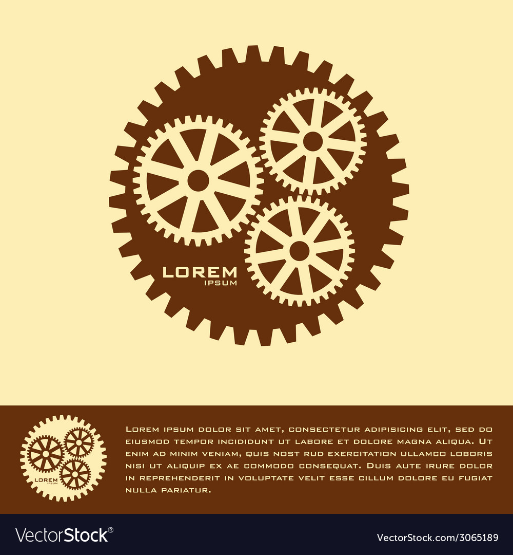 Cogwheel logo design template vector | Price: 1 Credit (USD $1)