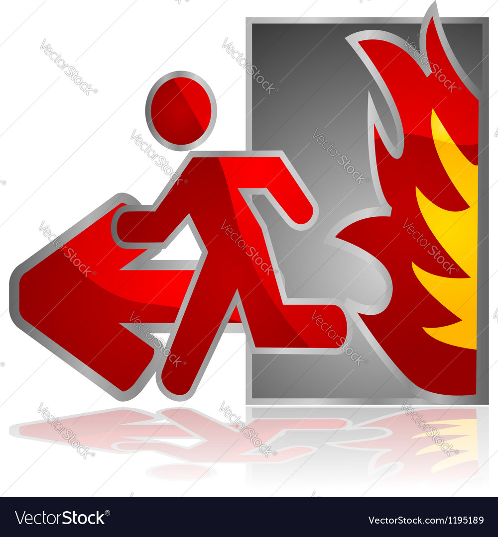 Fire exit vector | Price: 1 Credit (USD $1)