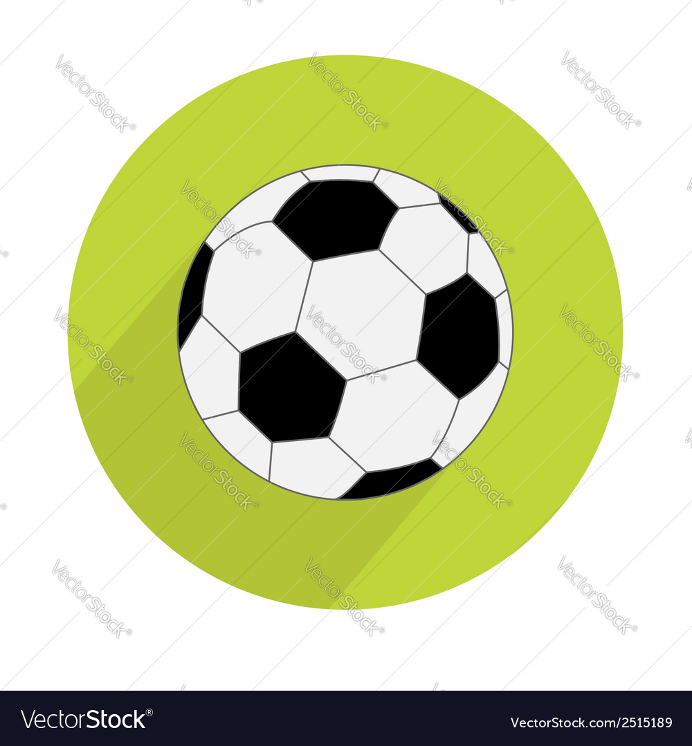 Football soccer ball round icon with long shadow vector | Price: 1 Credit (USD $1)
