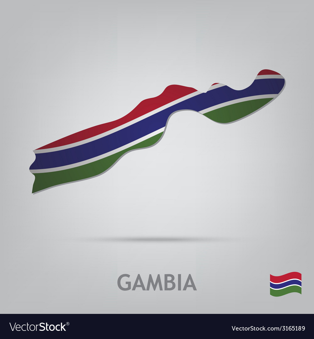 Gambia vector | Price: 1 Credit (USD $1)