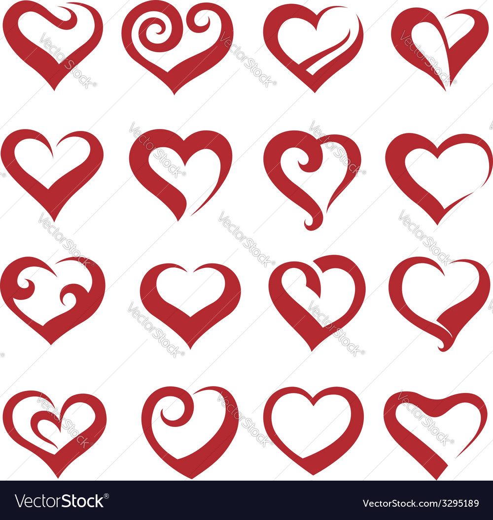Heart collection vector | Price: 1 Credit (USD $1)