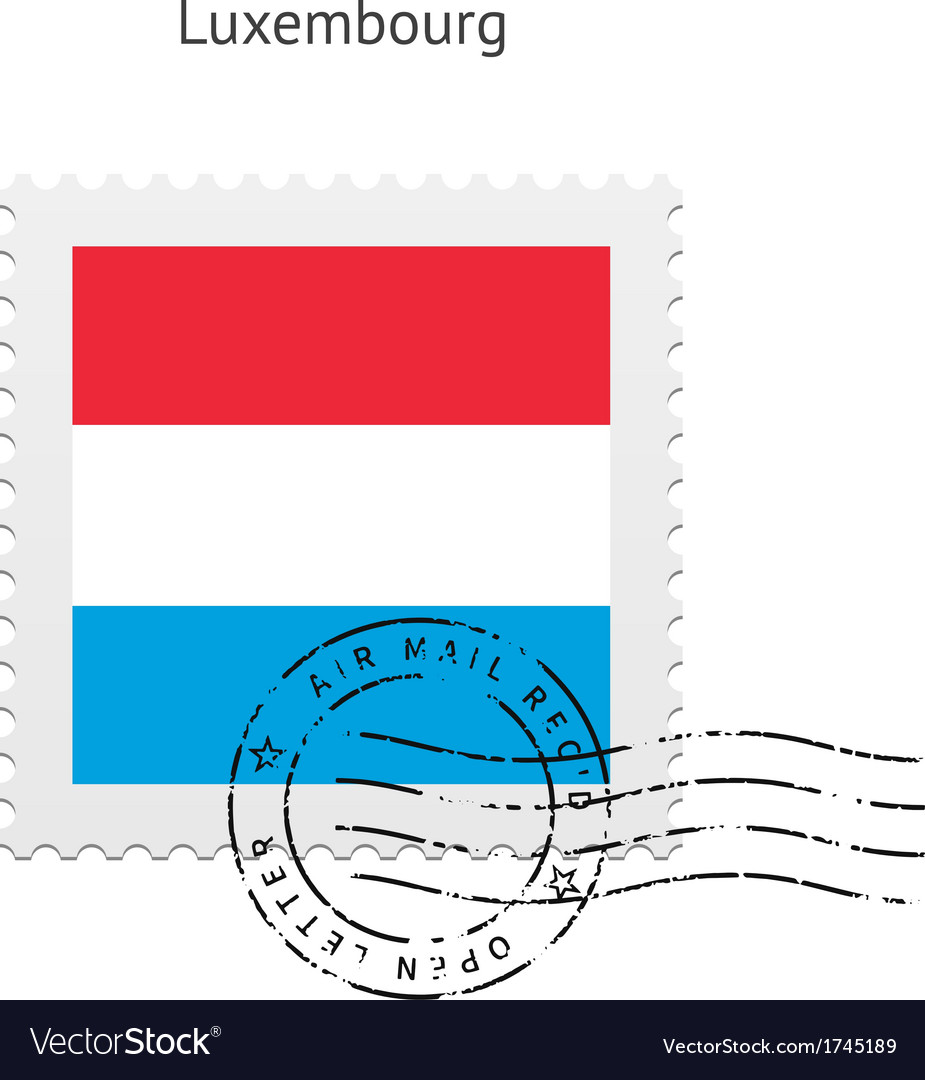 Luxembourg flag postage stamp vector   Price: 1 Credit (USD $1)