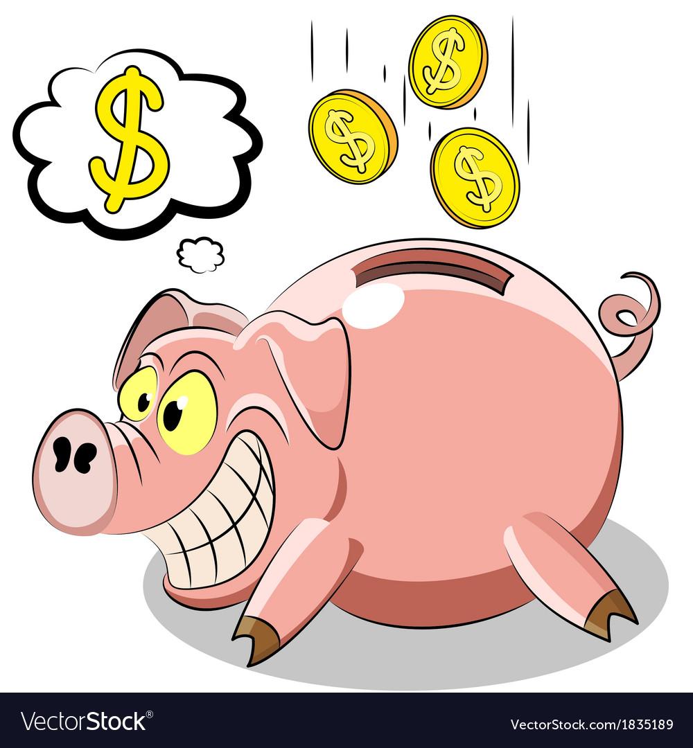 Pig piggy vector | Price: 1 Credit (USD $1)