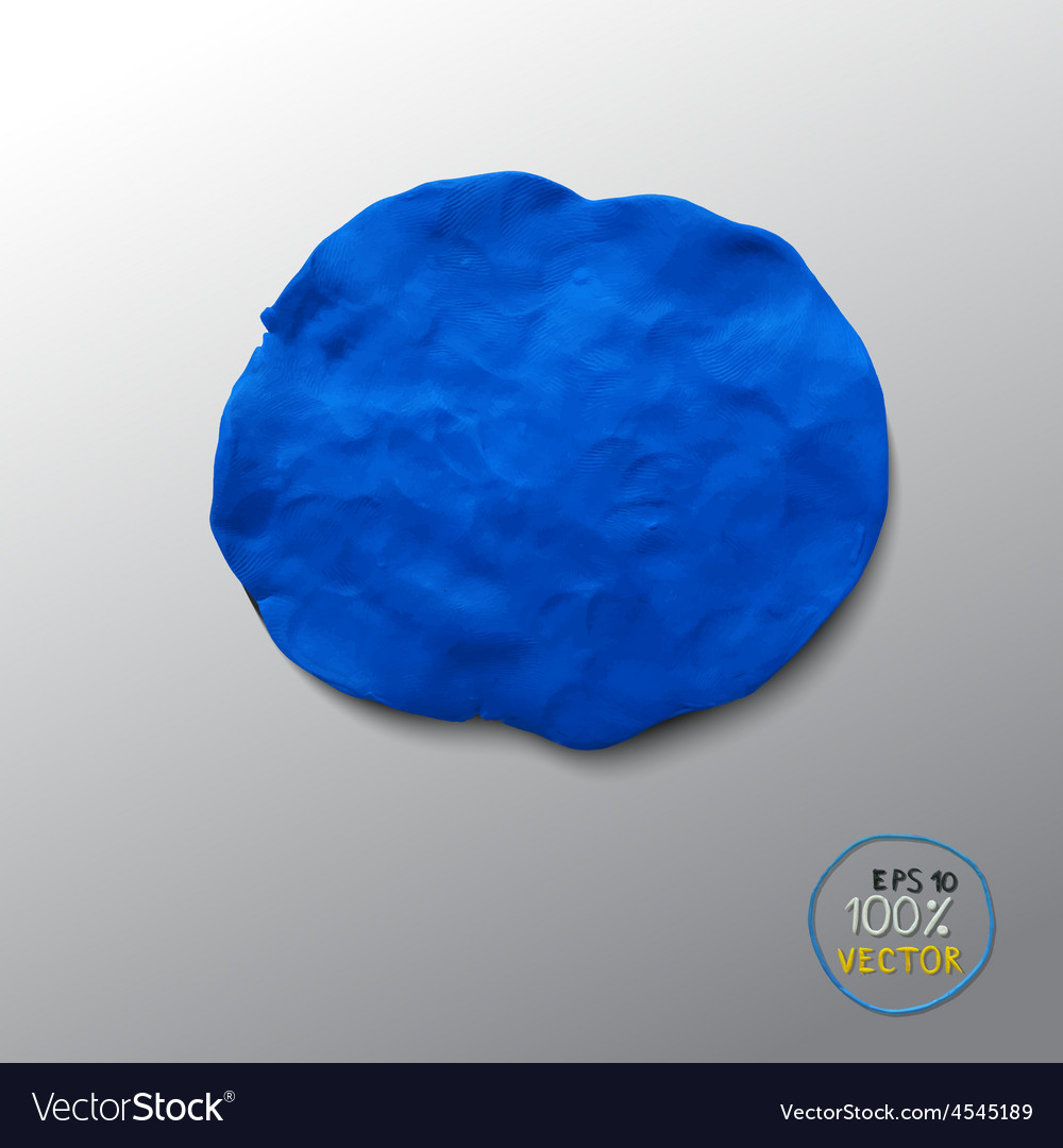 Plasticine blue figure vector | Price: 1 Credit (USD $1)