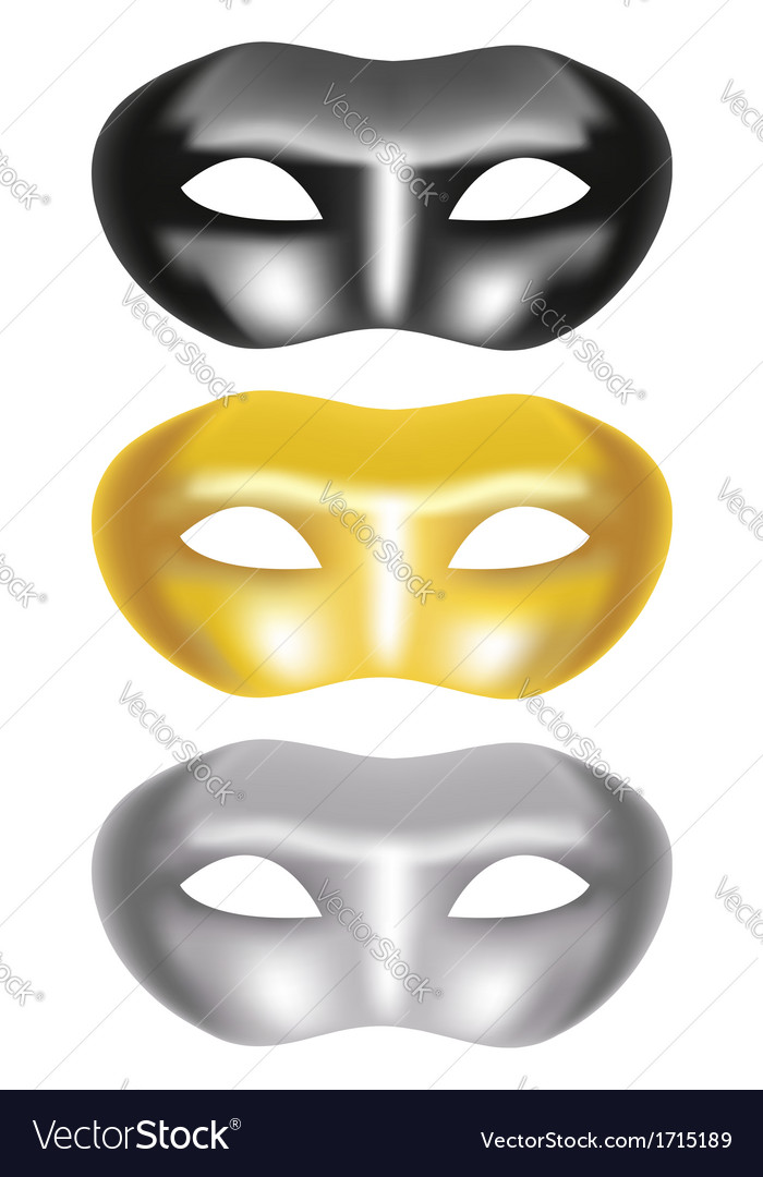 Set of masks on a white background vector | Price: 1 Credit (USD $1)
