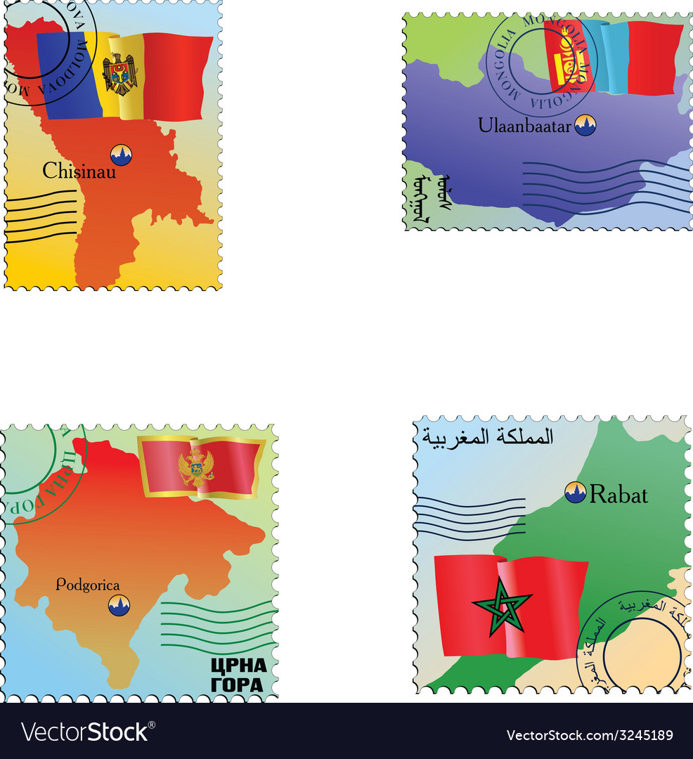 Stamp with an image of map vector | Price: 1 Credit (USD $1)