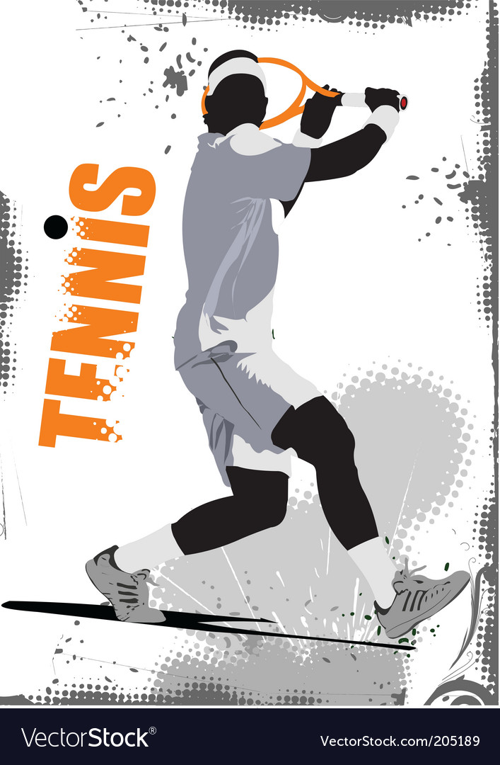 Tennis poster vector | Price: 1 Credit (USD $1)
