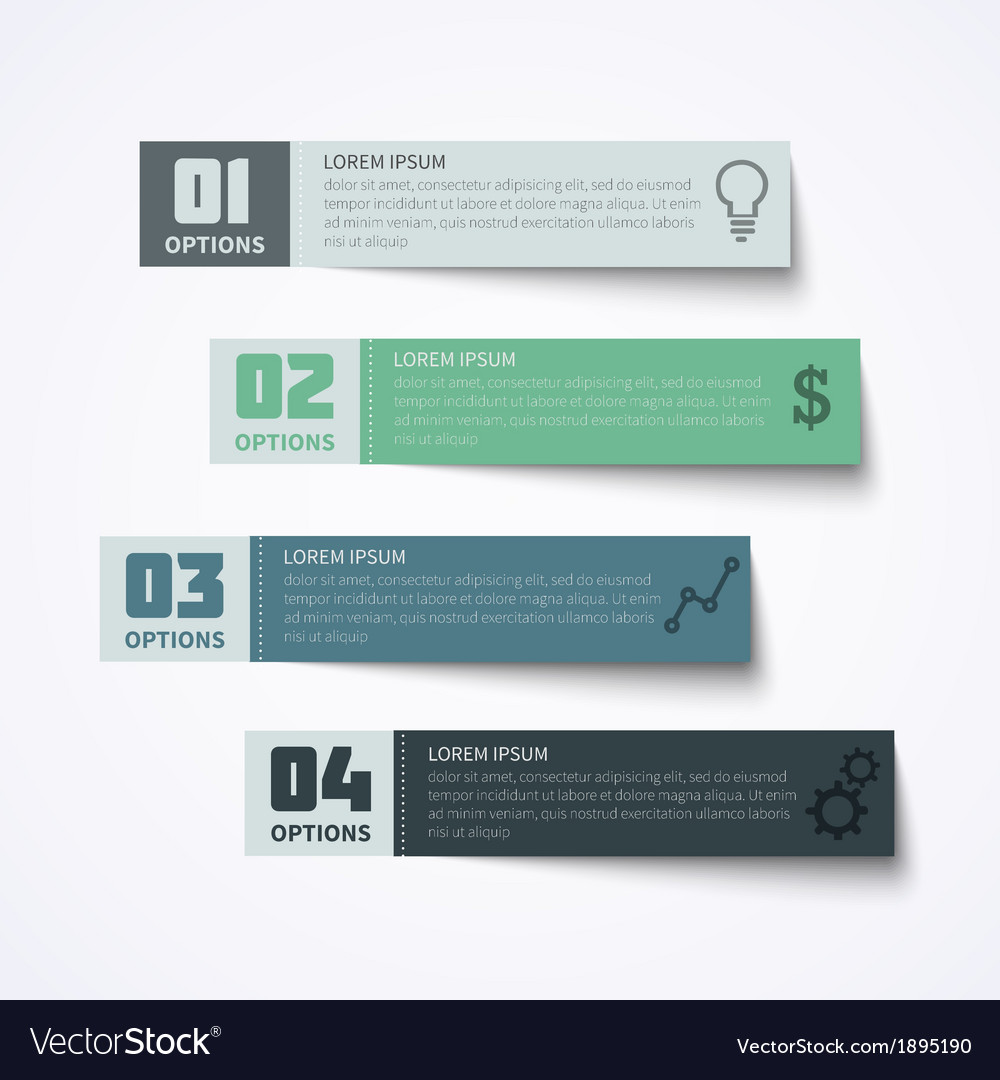 Abstract paper infographic elements vector | Price: 1 Credit (USD $1)