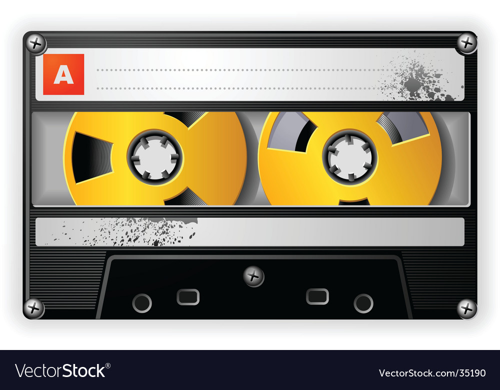 Audio tape cassette vector | Price: 1 Credit (USD $1)
